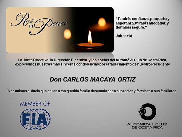 Rest in Peace Don CARLOS MACAYA ORTIZ